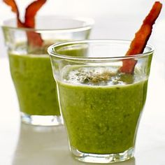 This pea soup gets a flavor boost from a sprinkling of bread crumbs and bits of bacon.