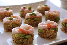 Rice and shrimp asian appetizer