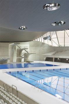 London 2012 Aquatics Center, Londra, 2011 by Zaha Hadid #architecture #london2012 #olympics#SportsInLondon #Sports #London