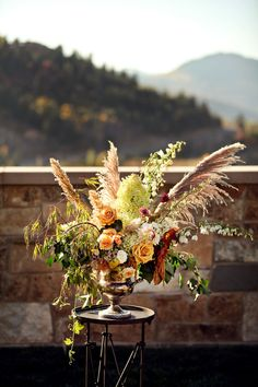 Fall Wedding Floral  Read More: http://stylemepretty.com/2013/10/31/deer-valley-utah-wedding-from-pepper-nix-photography-honey-of-a-thousand-flowers/