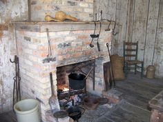 In cooler months we have open hearth cooking.