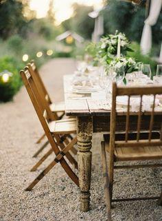 Outdoor garden party.  Photography by Jose Villa via Found Vintage Rentals.