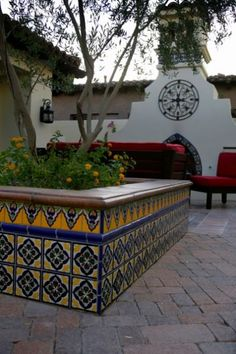 hand-painted mexican or spanish tile