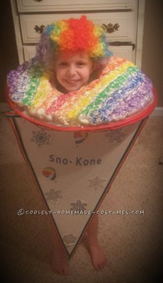 Cool Snow Cone Toddler Costume... Coolest Halloween Costume Contest