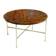 Vintage Patinated Copper Coffee Table @flea_pop