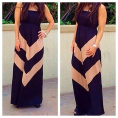 Dresses & Skirts - Chevron print maxi dress ONE DAY SALE
