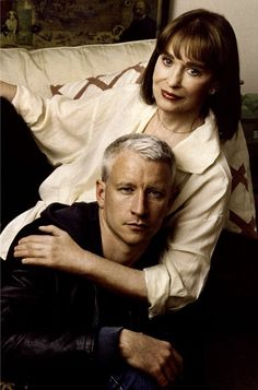 Gloria Vanderbilt & Anderson Cooper, mother & son