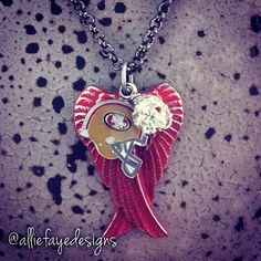 Red patina Angel Wings and San Francisco 49ers by alliefayedesigns