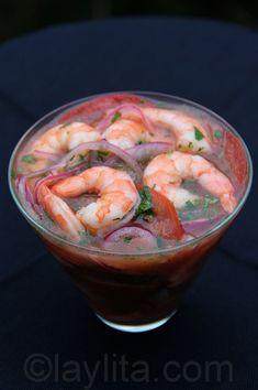 Shrimp ceviche...