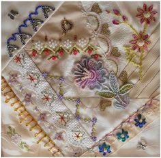 I ❤ crazy quilting & ribbon embroidery . . . CQJP Block 7 ~By Maureen Bond, crazyQstitcher