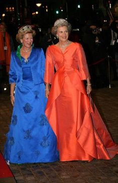 The Royal sisters, (L)Queen Anne Marie of Greece and (R) Princess Benedikte of Denmark