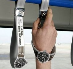 Guerrilla Advertising is such a creative and fun way to advertise. How convenient is this ad? Doesn't that just make you want to go buy that watch?