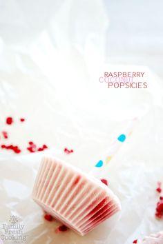 Coconut Raspberry Popsicles | FamilyFreshCooking.com