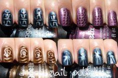 DIY magnet patterns for magnetic nail polish
