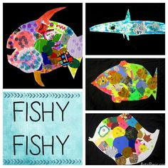 great for shape lesson. Have kids cut out a shape and then collage with other shapes inside it