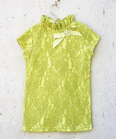 Look what I found on #zulily! Green Lace Nina Tunic - Toddler & Girls #zulilyfinds