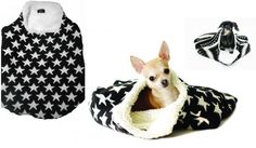 Doggie Sleeping Bag by Dogs Department. Miles likes to burrow, so this is perfect.. need!