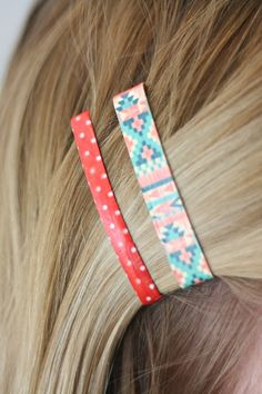 Mod Podge + pretty patterned paper = easy & adorable DIY hair clips!