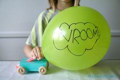DIY Balloon Cars
