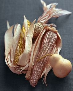 elegant glitter corn with husks #onekingslane
