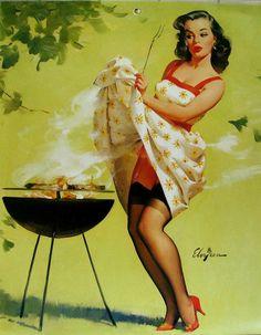 """""""Smoke Screen""""  1958 Elvgren"""