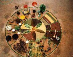 Medicine Wheel with healing foods