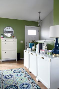 IHeart Organizing: IHeart My Home - Trim and handles on the Besta