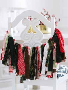 Fabric Scraps - 8 Festive Holiday Chair Swag Ideas on HGTV