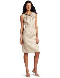 maxandcleo Women`s Jacquard Bead Dress