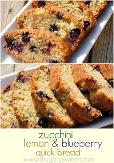 Lemon Blueberry Zucchini quick bread
