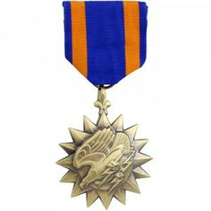 The Air Medal (AM) is given to military personnel for meritorious achievement while participating in aerial flight; awards may also be given to acknowledge single acts of merit or heroism. The AM is mainly intended to recognize those personnel who are on current crew member or non-crew member flying status which requires them to engage in aerial flight on a regular and frequent basis in the pursuit of their primary duties.