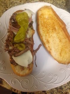 The Brady Bunch: Italian Drip Beef Sandwich...EASY and made in the crockpot.