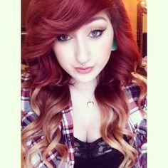 Ombre dip dyed hair idea