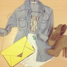 Light Blue Lapel Long Sleeve Bleached Denim Blouse