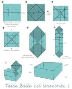 Loisirs créatifs, tuto origami : boite japonaise