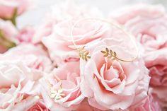 Jacquie Aiche Leaf Wrap Cuff / Jennifer Zeuner Clover Bracelet