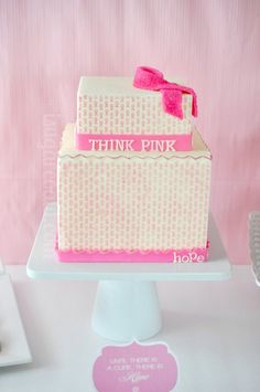 Breast Cancer Awareness cake by I Sugar Coat It!