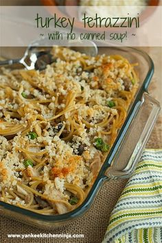 Turkey tetrazzini made with DIY homemade condensed soup -- from the Yankee Kitchen Ninja