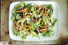 sesam dress, salad recipes, chicken salads, honey sesam, food, healthy eating, asian chicken, yum, summer salads