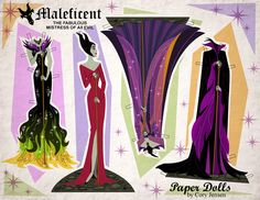 Paper Dolls Disney's Maleficent Free Printables, crafts and coloring pages | SKGaleana