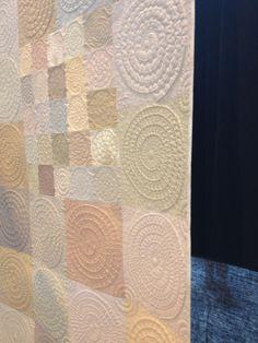 quilt design, machin quilt, spiral detail, quilt inspir, quilt idea, decor spiral
