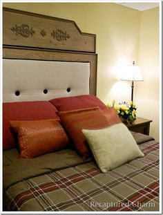 padded headboard--the look of this is not my style but the tutorial has some helpful tips
