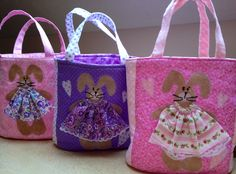 Easter bunny purses.  What little girl would not love these.  Peace, Robert from nancysfabrics.com