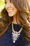 Pretty In The City Necklace: Pink/Blue