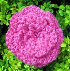 free flower pin crochet pattern