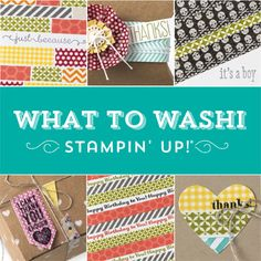 Check out the new What To Washi online class. Make sure to get the bundle that includes all of our washi tapes!