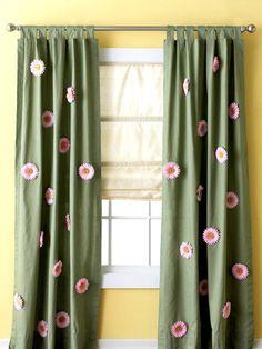 Flowered Curtain Panels!