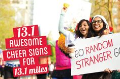 13.1 awesome cheer signs for 13.1 miles