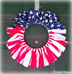 4th of july wreaths | Creative Princess: Easy Breezy 4th of July Wreath