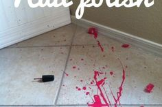 How to clean up a nail polish spill -I hope I don't need this, but just in-case ;)